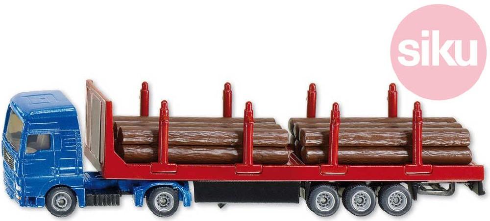 SIKU Model auto nákladní kamion se dřevem 1:87 kov