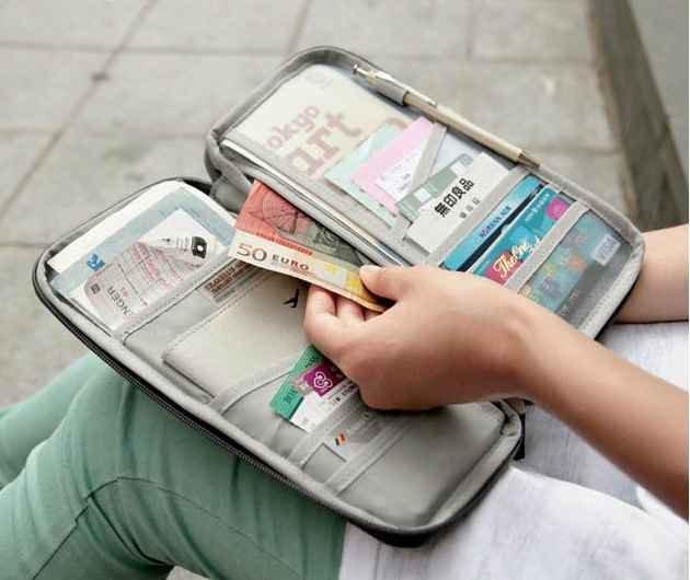 Cestovní organizér na doklady - Bordo