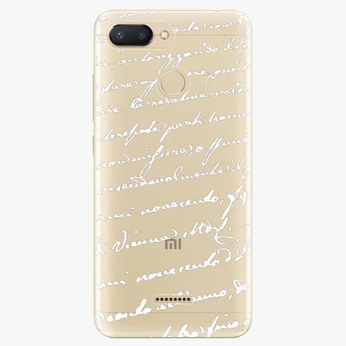 Silikonové pouzdro iSaprio - Handwriting 01 - white - Xiaomi Redmi 6