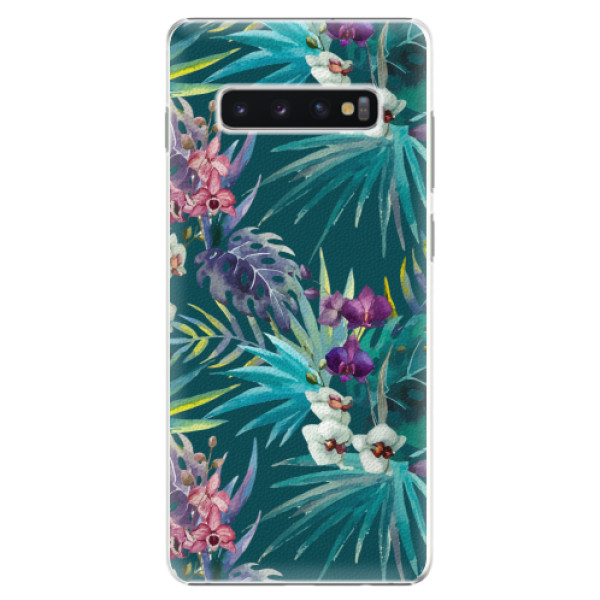 Plastové pouzdro iSaprio - Tropical Blue 01 - Samsung Galaxy S10+