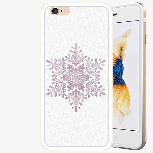 Plastový kryt iSaprio - Snow Flake - iPhone 6 Plus/6S Plus - Gold