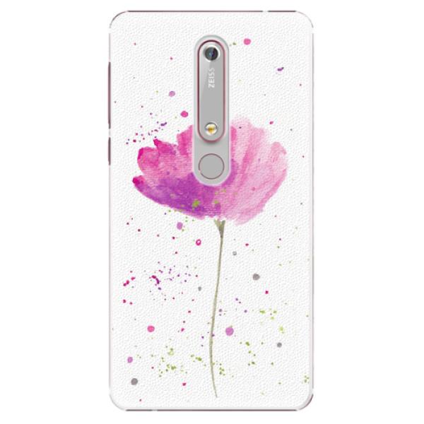 Plastové pouzdro iSaprio - Poppies - Nokia 6.1