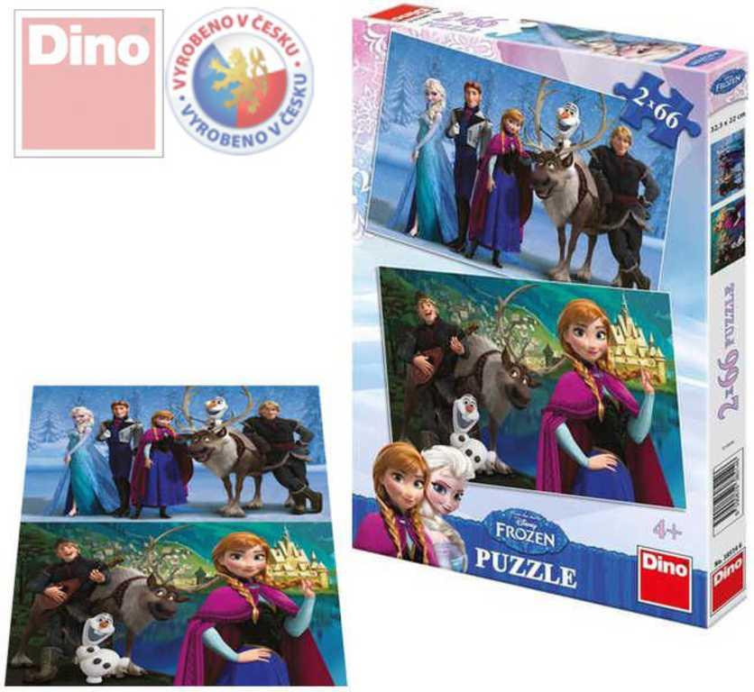 DINO Puzzle 2x66 dílků Ledové království (Frozen)