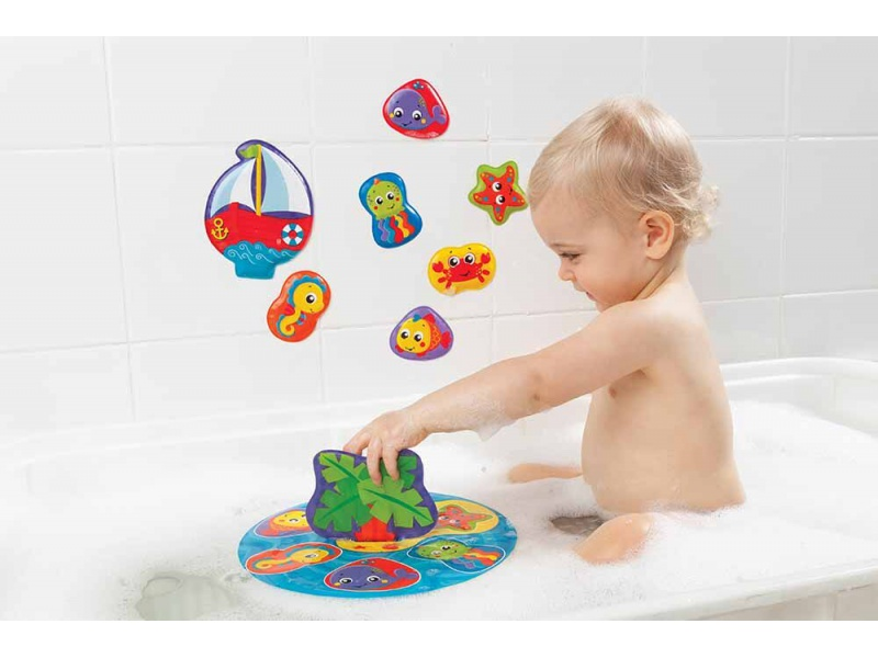 Playgro - Plovoucí puzzle do vany