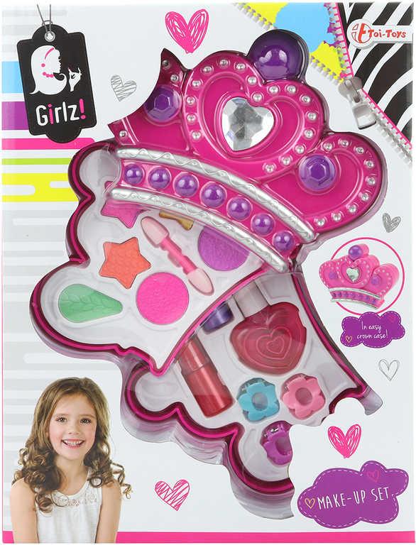 Make up zkrášlovací set korunka dětské šminky v krabici