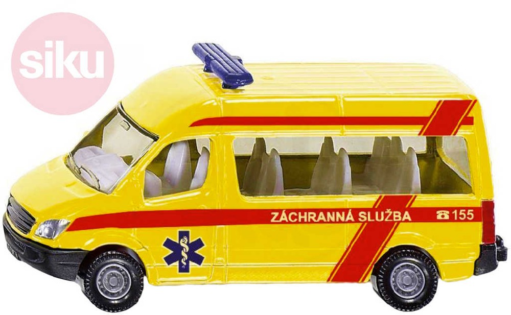 SIKU Auto Mercedes-Benz Sprinter Záchranná Služba ČR ambulance model 1083