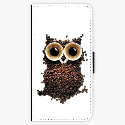 Flipové pouzdro iSaprio - Owl And Coffee - Samsung Galaxy S9