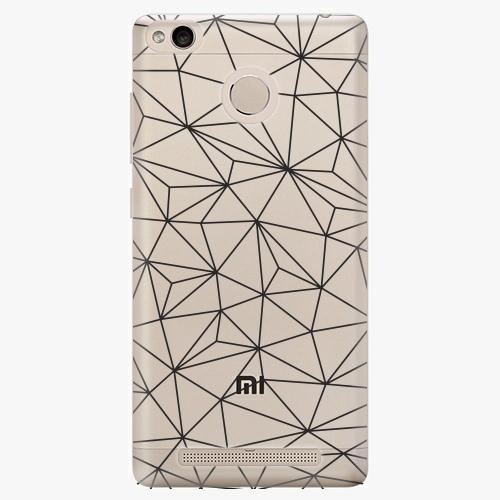 Plastový kryt iSaprio - Abstract Triangles 03 – black - Xiaomi Redmi 3S