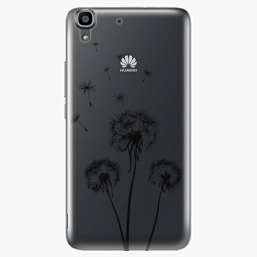 Plastový kryt iSaprio - Three Dandelions - black - Huawei Ascend Y6