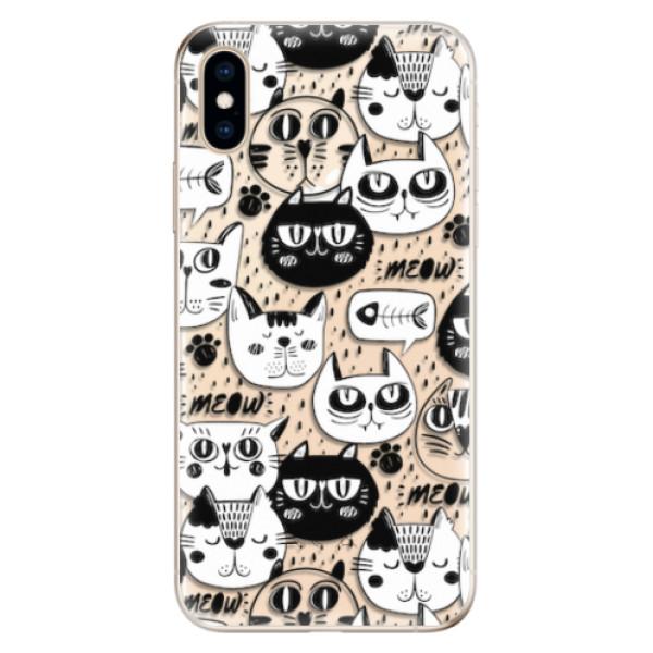 Odolné silikonové pouzdro iSaprio - Cat pattern 03 - iPhone XS