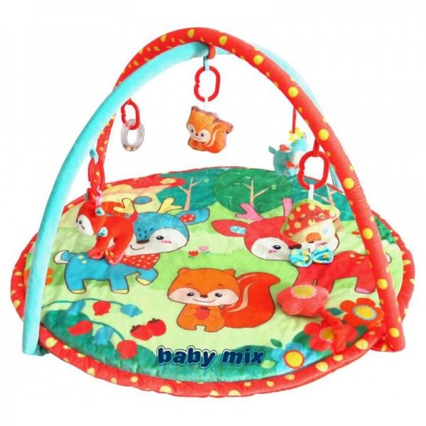 BABY MIX Vzdělávací hrací deka - Srnky a přátelé
