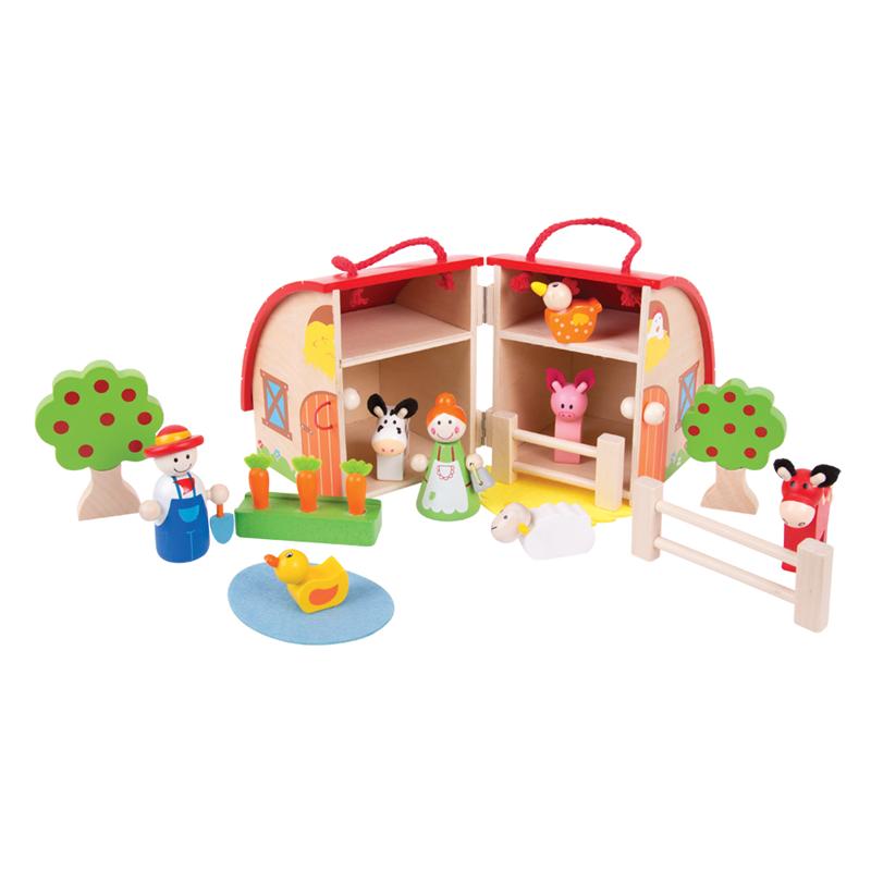 Bigjigs Toys Farma v kufříku - poškozený obal
