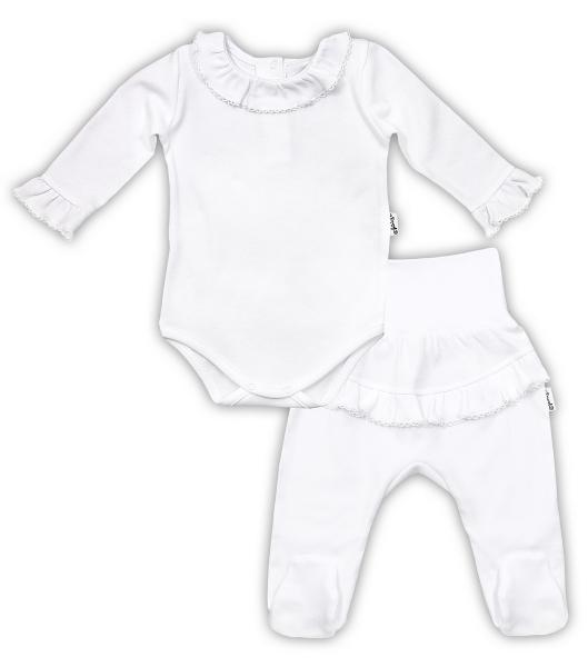 Soupravička NICOL ELEGANT BABY GIRL - body dl. rukáv a polodupačky - 74 (6-9m)