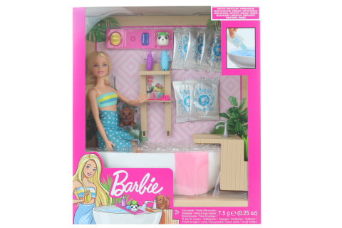 Barbie Wellness panenka v lázních herní set GJN32