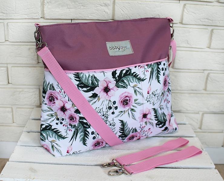 stylova-taska-na-kocarek-baby-nellys-hand-made-kvetinky-flowers-vinova-ce19
