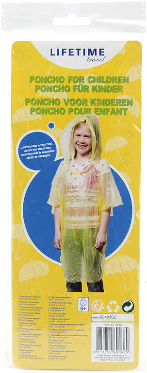 Pláštěnka poncho dětská univerzální velikost v sáčku