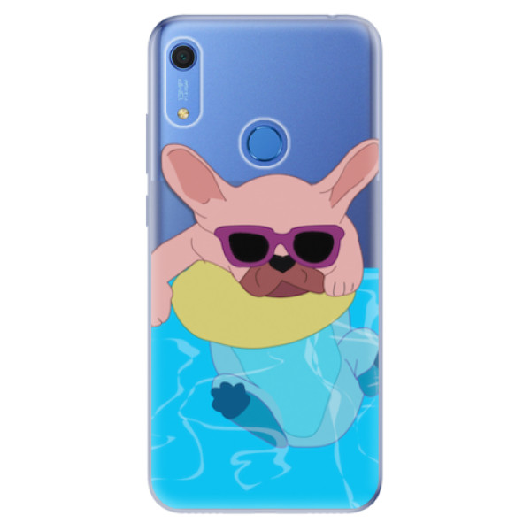 Odolné silikonové pouzdro iSaprio - Swimming Dog - Huawei Y6s