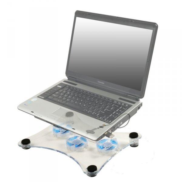 Chladící podložka pod notebook s LED osvětlením
