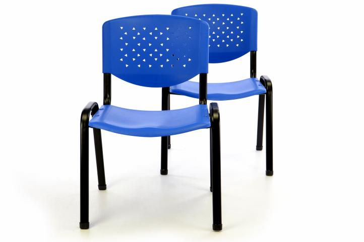 sada-2-x-stohovatelna-plastova-kancelarska-zidle-modra