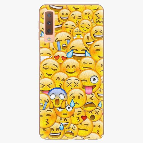 Plastový kryt iSaprio - Emoji - Samsung Galaxy A7 (2018)
