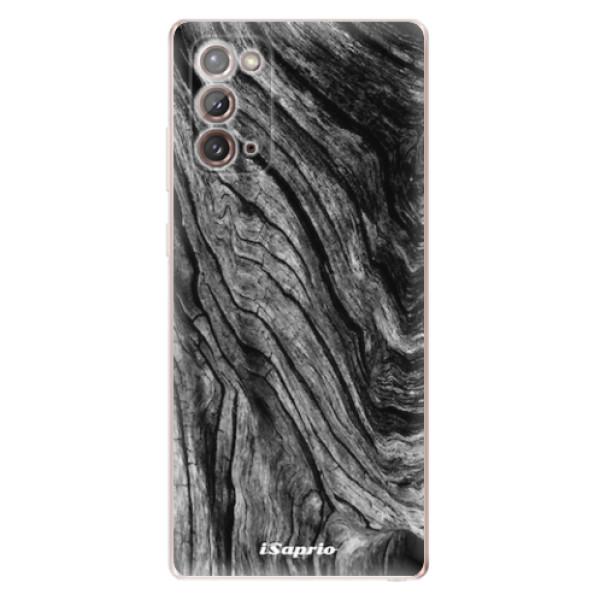 Odolné silikonové pouzdro iSaprio - Burned Wood - Samsung Galaxy Note 20