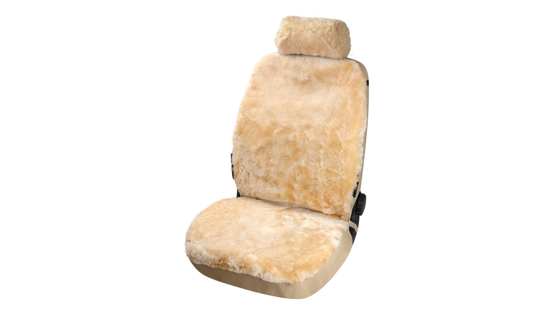 Walser Lambskin Car Seat cover Iva beige with ZIPP IT System
