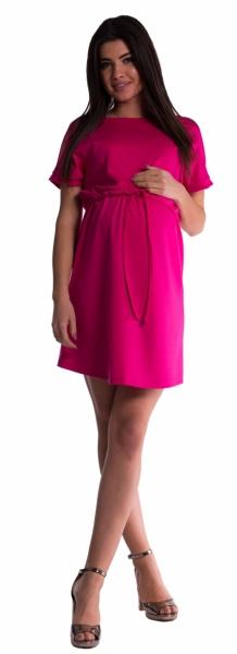 Těhotenské šaty s vázáním - amarant
