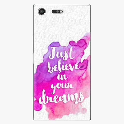 Plastový kryt iSaprio - Believe - Sony Xperia XZ Premium