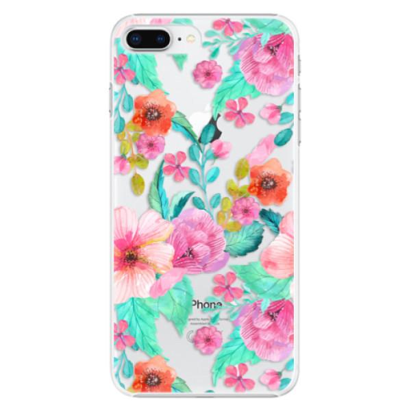 Plastové pouzdro iSaprio - Flower Pattern 01 - iPhone 8 Plus