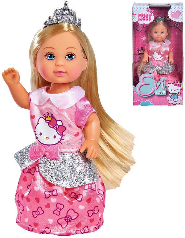 SIMBA Panenka Evička Hello Kitty princezna s tiárou v krabici