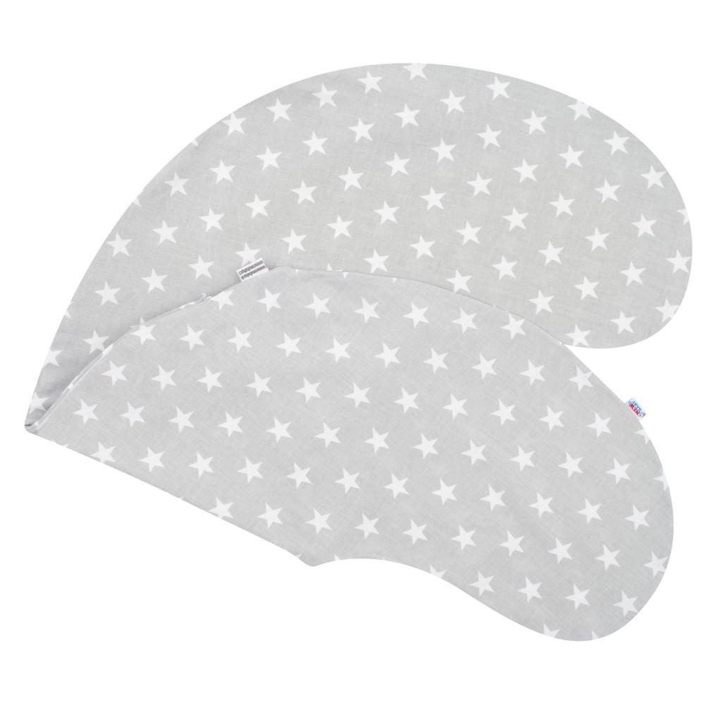 Povlak na kojící polštář - New Baby Hvězdičky šedý - šedá