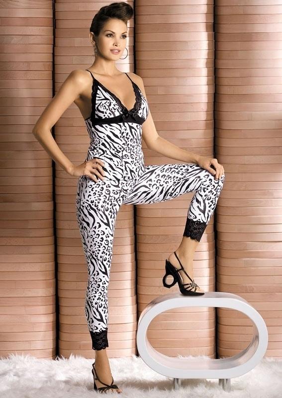 Souprava Obsessive Zebra top + pants - Original - L/XL