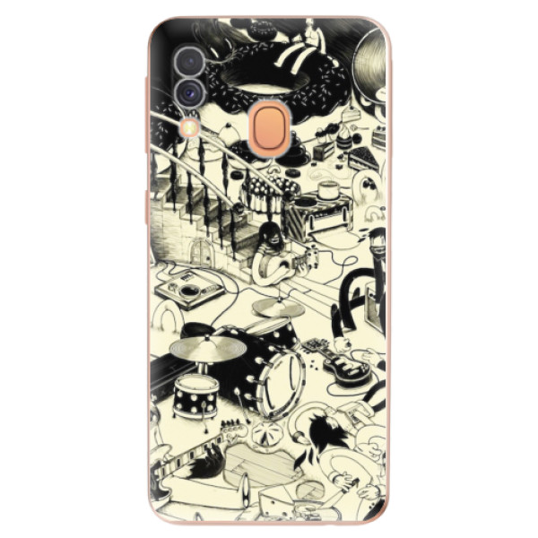 Odolné silikonové pouzdro iSaprio - Underground - Samsung Galaxy A40