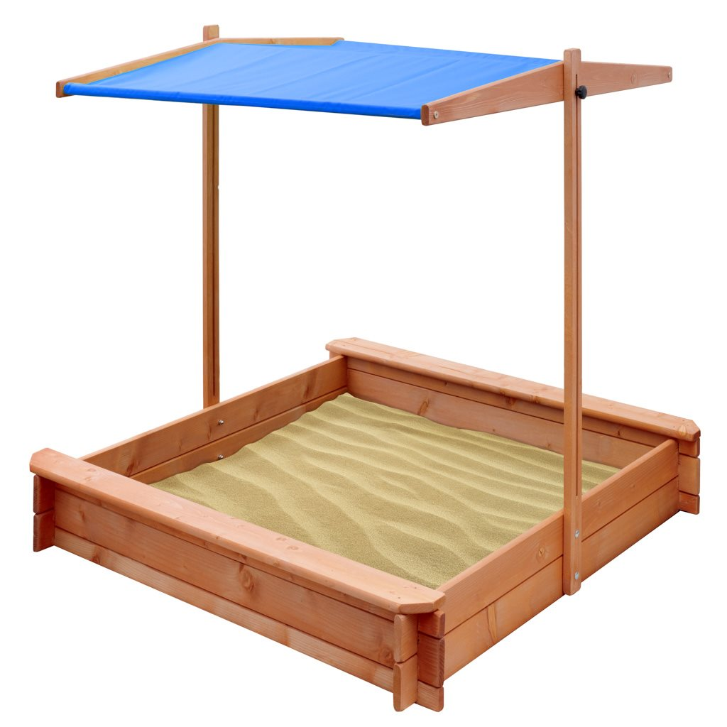Dětské dřevěné pískoviště se stříškou NEW BABY 120x120 cm