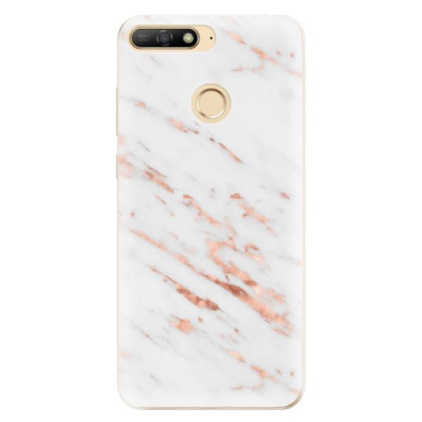 Odolné silikonové pouzdro iSaprio - Rose Gold Marble - Huawei Y6 Prime 2018