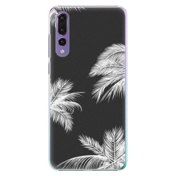 Plastové pouzdro iSaprio - White Palm - Huawei P20 Pro