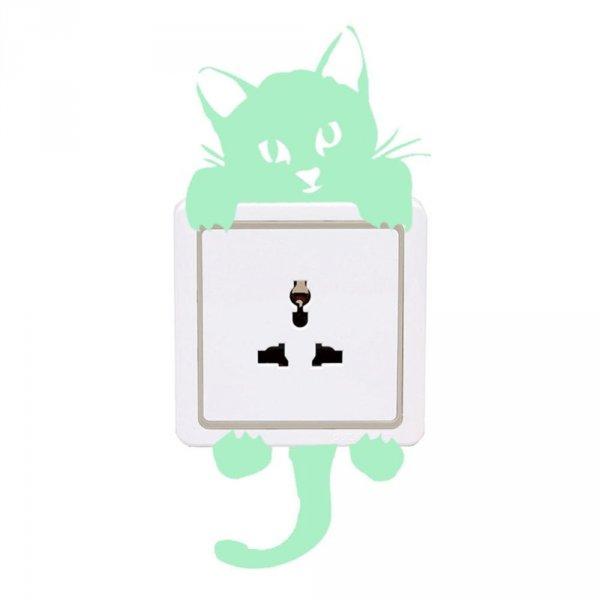 Svítící samolepka - Kočička za vypínačem