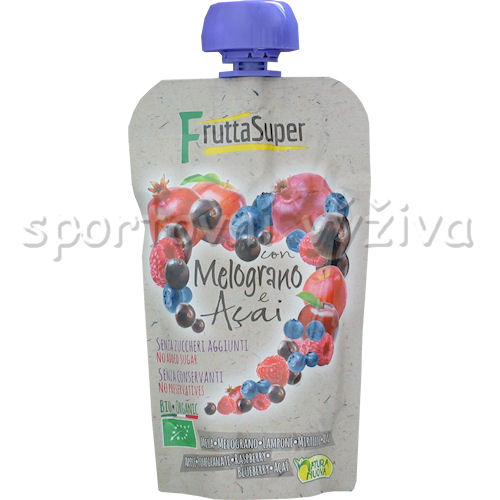 BIO Frutta Super Con Melograno Acai 120g-apple-pomegranate-raspberry-blueberry-acai