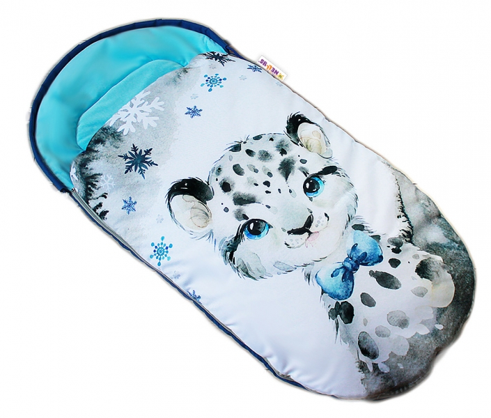 detsky-fusak-baby-nellys-winter-luxury-velvet-105-x-55-cm-gepardik-tyrkys