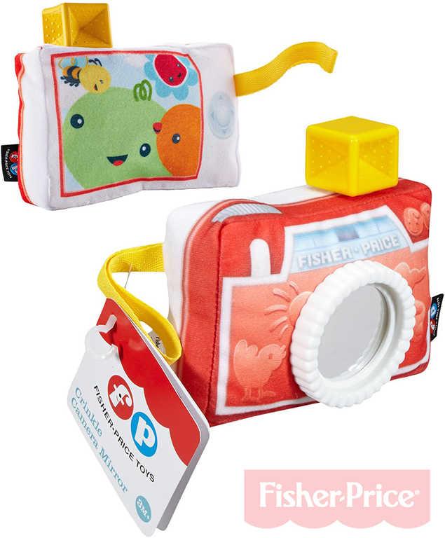 FISHER PRICE Baby fotoaparát se zrcátkem kousátko chrastítko pro miminko