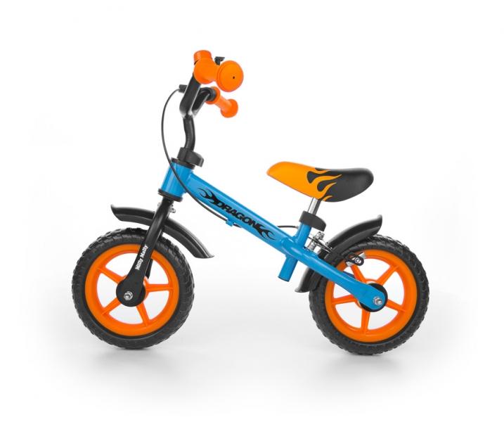 Odstrkovadlo Milly Mally DRAGON s brzdou - modro/oranžové
