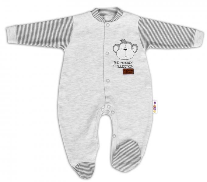 baby-nellys-bavlneny-overalek-monkey-sv-sedy-melirek-vel-68-68-4-6m