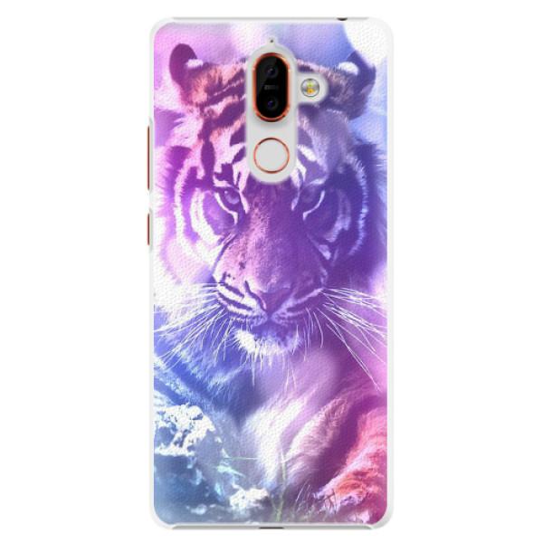 Plastové pouzdro iSaprio - Purple Tiger - Nokia 7 Plus