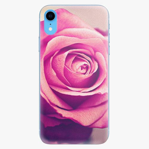 Silikonové pouzdro iSaprio - Pink Rose - iPhone XR