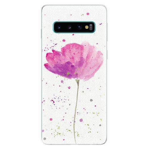 Silikonové pouzdro iSaprio - Poppies - Samsung Galaxy S10