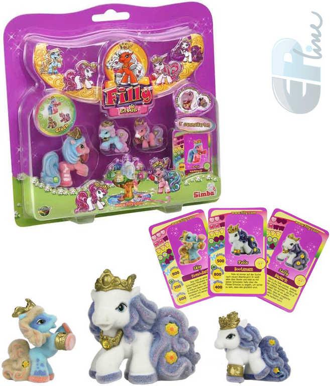 EP Line Filly Elves rodinka koník + 2 baby koníci set s letáčkem a 3 kartami různé druhy