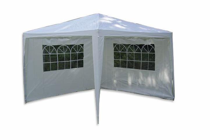 Zahradní  párty přístřešek - bílý 3 x 3 m + 2 boční stěny