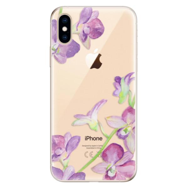 Odolné silikonové pouzdro iSaprio - Purple Orchid - iPhone XS