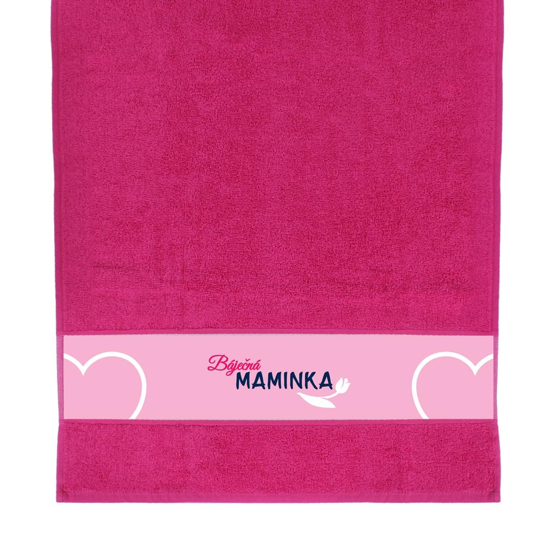 ALBI - Růžový ručník - Báječná maminka
