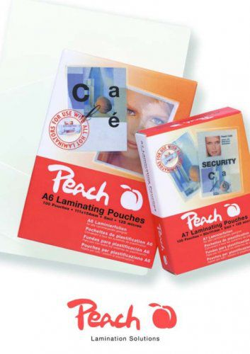 Laminovací fólie Peach PPR525-08 lesklé 25ks Business Card, 60x90mm, 125mic